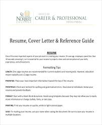 Resume Letter Of Recommendation Reference Letter Of Recommendation