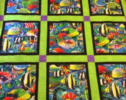 Fish quilt | Etsy & Fish Quilt Adamdwight.com