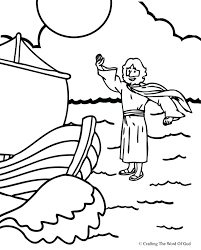 Jesus Walks On Water Coloring Page Walks On Water Coloring Page