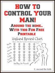 Lazy Husband Partner Reward Chart U Me And The Kids