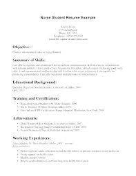 Student Resume Example Custom Graduate Nurse Resume Objective Examples 48 Nursing Samples Sample