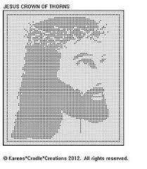 Filet Crochet Patterns Classy JESUS CROWN OF THORNS Filet Crochet Pattern EBay