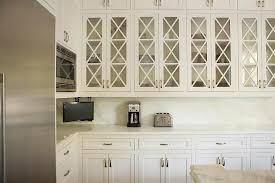 glass front x panel kitchen cabinets