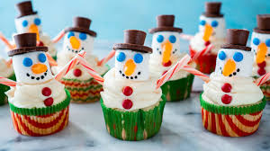 Snowman Cupcakes Using Marshmallows And Candy Eating Richly