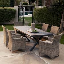 bella all weather wicker patio dining set seats 6 patio dining sets at hayneedle wicker don t think my hubby will agree though