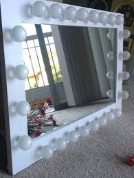 make up mirror light bulb elegant wall mirror with lights throughout astonishing