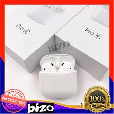 BẢN NÂNG CẤP - BH 6 THÁNG]] Tai nghe mini Airpods Pro 4 Bluetooth 5.0 TWS,  cảm biến, đổi tên, định vị chuẩn giá cạnh tranh