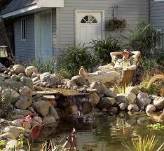 garden pond ideas. Modren Garden Backyard PondWaterfall Throughout Garden Pond Ideas