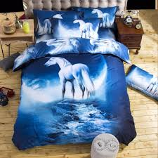 whole 2016 new 3d bedding sets unicorn universe outer space quilt duvet cover bed sheet blue galaxy new 4 pillowcase twin queen black and white duvet