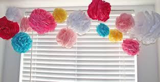 Decorations:DIY Orange Crepe Paper Pom Decoration Idea Beautifuf DIY Tissue  Paper Paper Pom