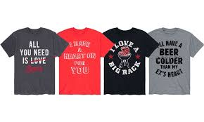 Tue, feb 2 priority mail: Men S Funny And Naughty Valentine S Day Tee Extended Sizes Available Groupon