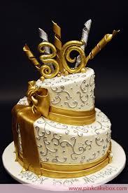 Gold Topsy 30th Birthday Cake