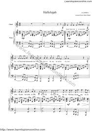 hallelujah piano sheet music hallelujah from shrek by rufus wainwright free piano sheet music