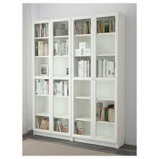 billy oxberg bookcase white glass 160x202x30 cm ikea