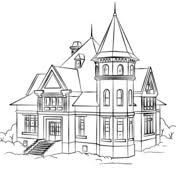Small Picture Victorian Row House coloring page Free Printable Coloring Pages