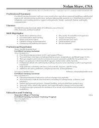 Sample Template Resume Amazing Cna Resume Samples Kappalab
