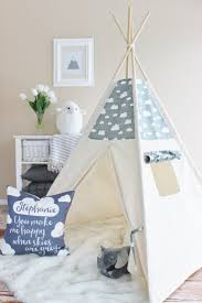 Its important for kids to have a private space. Indoor tents and teepees  create an aesthetically pleasing and private space for kids to use as they  wish.
