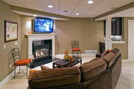 basement corner fireplace ideas basement traditional with finished basement finished