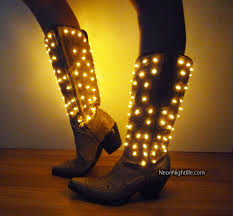 Light Up Cowgirl Boots Womens Battery Powered By