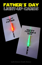 Light Up Fathers Day Cards Left Brain Craft Brain