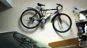 bike rack garage storage. Easy Way To Hang Your Bike In Garage Without Rack Or Pulley System YouTube Throughout Storage