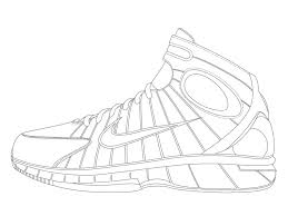 lebron shoes drawing. lebron james shoes coloring sheets shoe pages dunking free drawing s