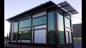 Prefabricated Shipping Container Homes Prefab Shipping Container Home One Cool Habitat Com Youtube