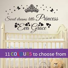 personalised sweet dreams little princess custom name baby girl wall art sticker in wall stickers from home garden on aliexpress alibaba group on personalised baby wall art uk with personalised sweet dreams little princess custom name baby girl wall