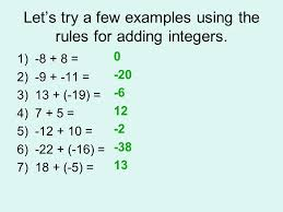 Integers Examples What Two Numbers Will Give You A Product Of 64 And A Quotient Of 4