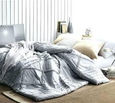 gray ruffle bedding glacier ruffles handcrafted series oversized king comforter twin dark grey