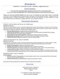 49 Sample Resume Administrative 10 Resume For Administrative
