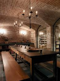 wine lighting. This Traditional Vaulted Cellar Includes A Table And Benches For Tasting \u2013 Www.marionlichtig.com Wine Lighting O