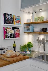 Image Kitchen Storage View In Gallery Small Frontfacing Cookbook Shelves Decoist 15 Unique Kitchen Ideas For Storing Cookbooks