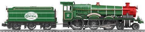 lionel santas flyer north pole central santas flyer ii conventional 4 6 0 steam locomotive