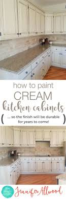 learn to paint a cream cabinet with glaze