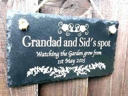 personalized outdoor plaques signs engraved for outdoors wood fresh garden plastic e