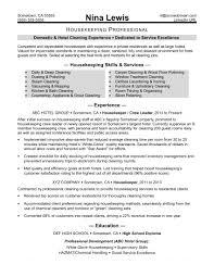 Housekeeping Resume Sample Monster Com Format Housek Sevte