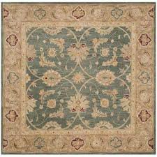 antiquity teal blue taupe 6 ft x 6 ft square area rug