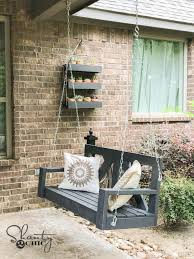 How To Build A Porch Swing Diy 40 Farmhouse Porch Swing Shanty 2 Chic