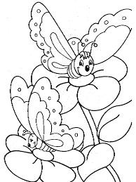 Diverse Farfalle Sui Fiori Da Stampare E Da Colorare Disegni Da