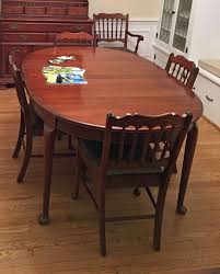 pennsylvania house dining room table cherry queen anne admirals table chairs 1 of 3