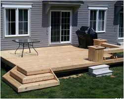 Backyard Deck Patio Designs Ideas Ground Level Pinterest