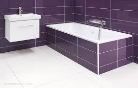 desire purple porcelain tiling on walls in modern bathroom