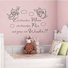 Wandtattoo Kinderzimmer Mama Papa Wunder