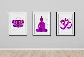 buddha ohm symbol lotus yoga print watercolor prints purple art Zen Wedding Gifts buddha ohm symbol lotus yoga print watercolor prints purple art decor meditation buddha print yoga zen wedding gift yoga studio decor pinterest ohm Gifts for the Zen Office
