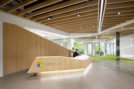 microsoft office design. front desk stairs open office microsoft design