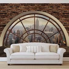 New York City Skyline Fenster Vlies Fototapete Tapete Mural 2397dk