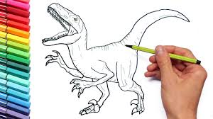 Small Picture Drawing and Coloring Velociraptor Jurassic World Dinosaurs