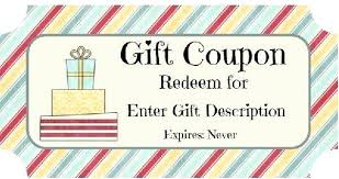 Make Your Own Gift Certificate Lovely Free Printable Beauty