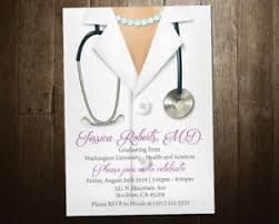 Invitation For Graduation Details About Medical School Graduation Invite Graduation Party Invitation Medical Degree